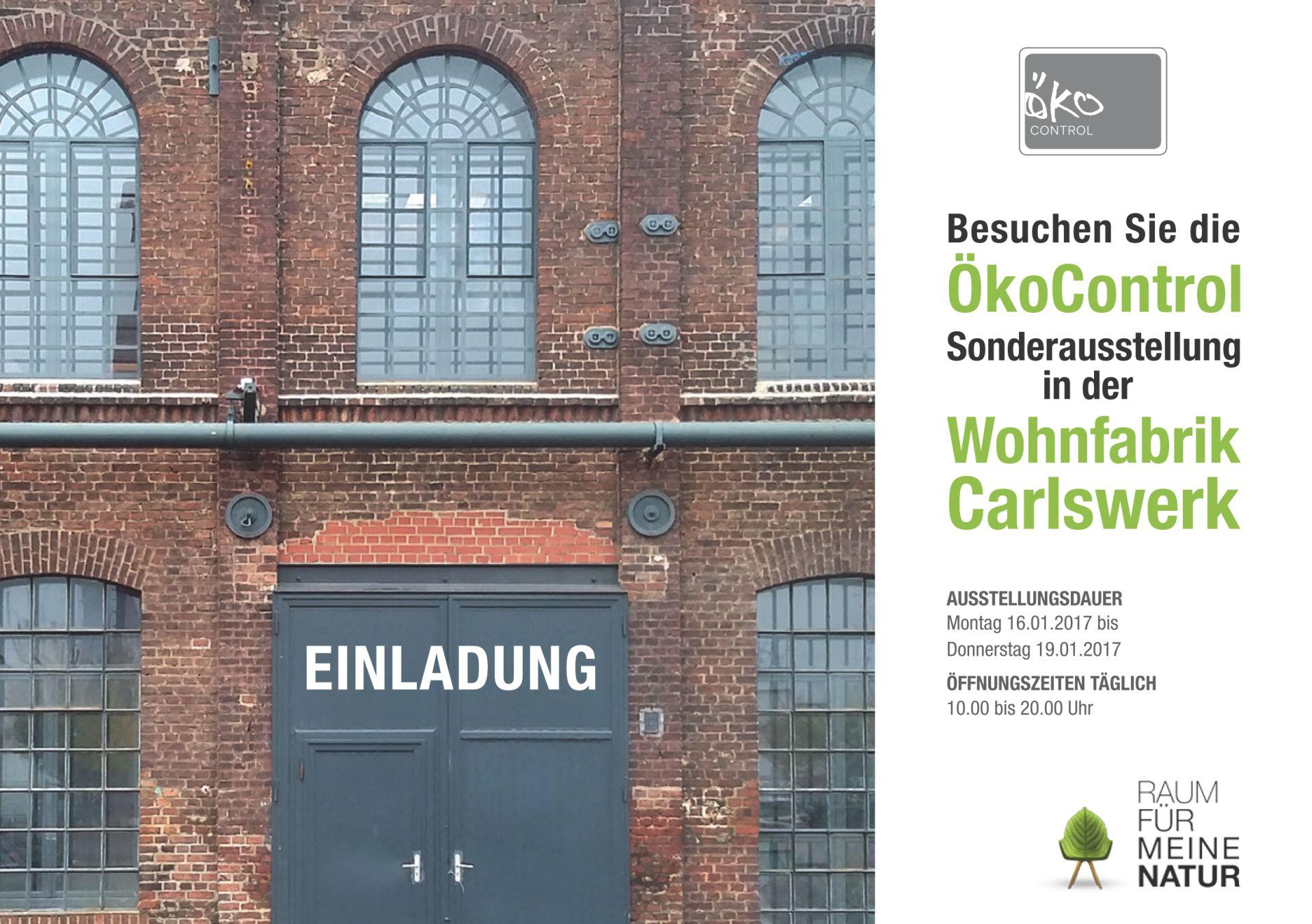 Einladung zur Sonderausstellung der ProÖko im Carlswerk in Köln-Mülheim
