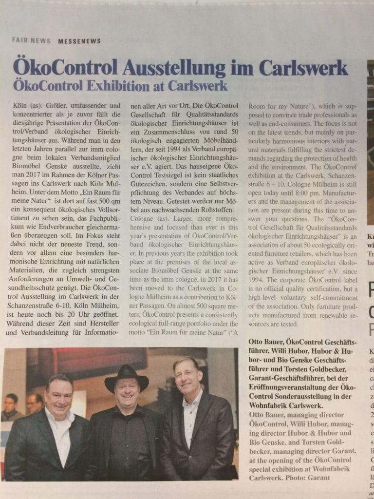 2017-01 Messenews ÖkoControl Austellung im Carlswerk