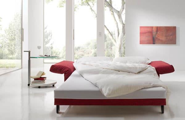 Schlafsofa Malou in rot als Liegefläche